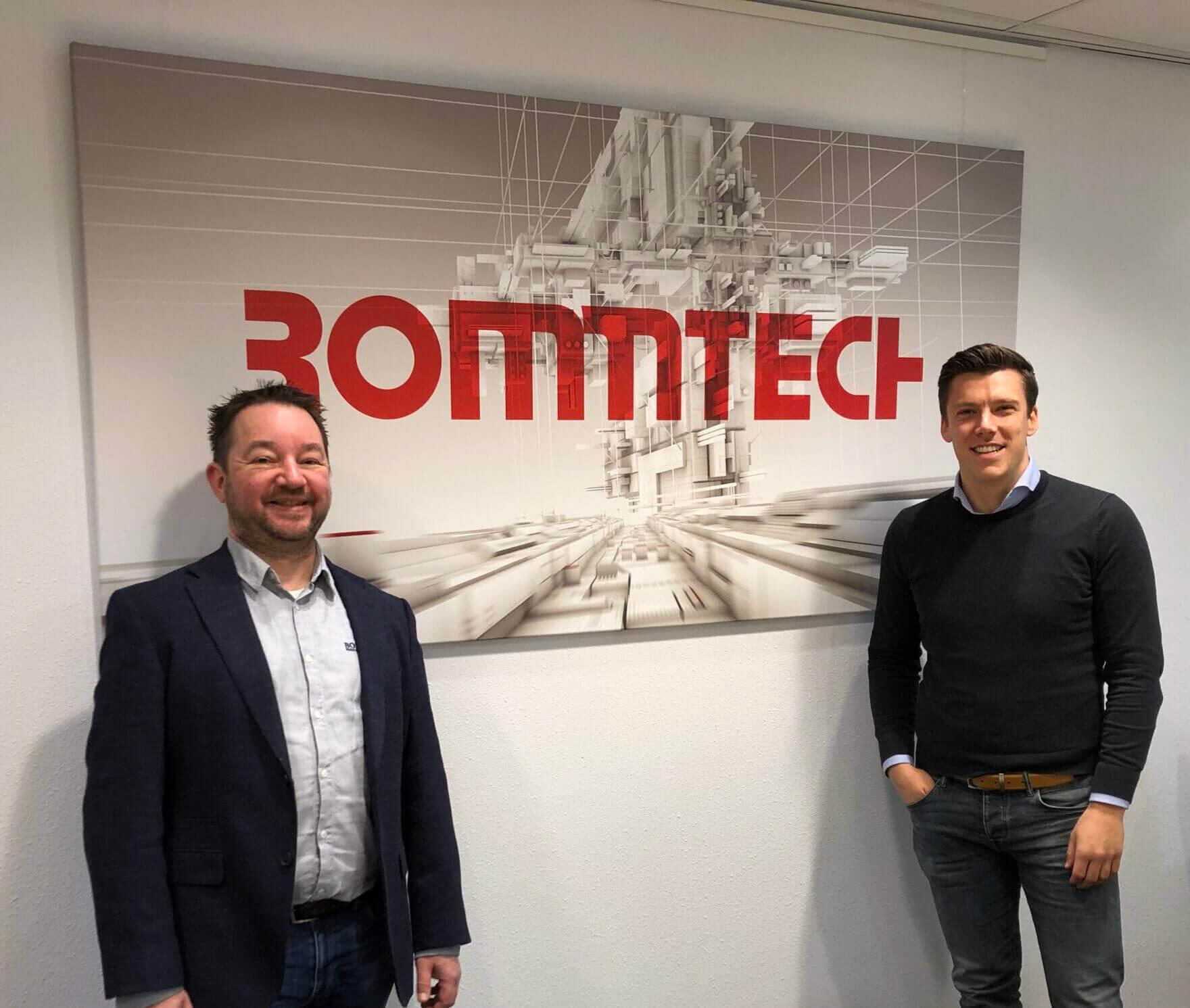Maarten (ITCOMS) op de foto met Erik Rommens (Rommtech)